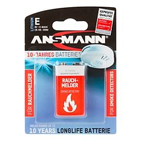 Pilas, para detector de humo, bloque E, 9 V, almacenables durante 10 años