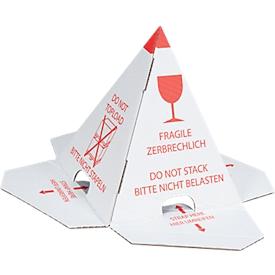 Pirámide de protección de pila, conos para paletas, autoadhesivos, 25 piezas