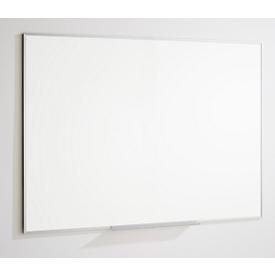 Pizarra 84072, acero, esmaltada en blanco crema, magnética, ancho 900 x alto 600 mm