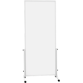 Pizarra blanca móvil MAULsolid easy2move, chapa de acero, revestimiento blanco, magnético, An 750 x Al 1800mm