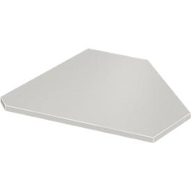 placa angular, 90°, ancho 800 x fondo 800 mm, gris claro