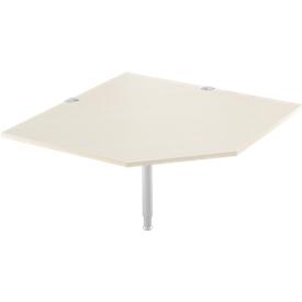 placa angular del sistema, CAD, pie, A 1200 x P 1200 mm, arce/aluminio blanco