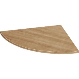placa angular del sistema, redondeada a 90°, ancho 800 x fondo 800 mm, cerezo romano/aluminio blanco