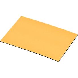 Placas de cojinetes magnéticos, amarillo, 20 x 60mm