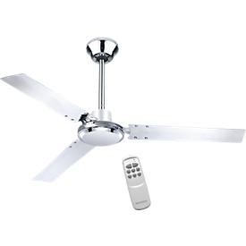 Plafondventilator Verona, 65 W,  3 snelheden, met afstandsbediening, chroom