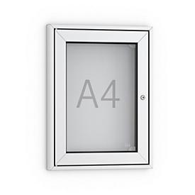 Plakat-Schaukasten, DIN A4, spitz, alu-/silberfarbig