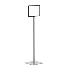 Plakatständer Durable® INFO STAND BASIC, A4 Hoch- & Querformat, beidseitig lesbar, 2 DURAFRAME® MAGNETIC Inforahmen, inkl. Montageset, Metall