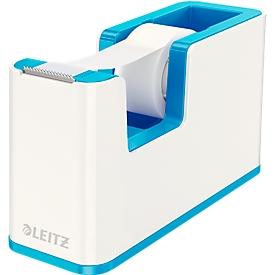 Plakbandafroller Leitz WOW, Tafelafroller, wit/blauw