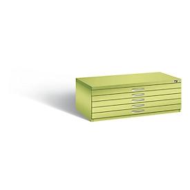 Planschrank aus Stahl, für Formate bis DIN A0, 10 Schubladen