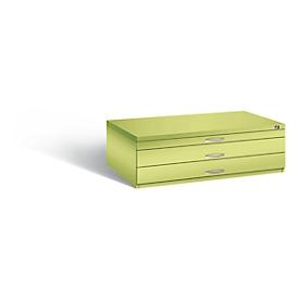 Planschrank aus Stahl, für Formate bis DIN A0, 3 Schubladen