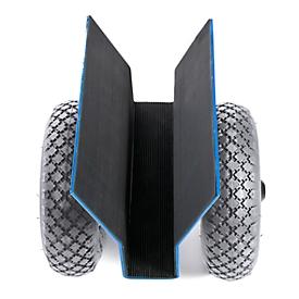 Platenroller met 200 kg draagvermogen, banden van massief rubber