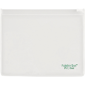 Platte zak FolderSys, schuifsluiting, PVC-vrij, geschikt voor levensmiddelen, folie transparant, formaat B6, 10 stuks