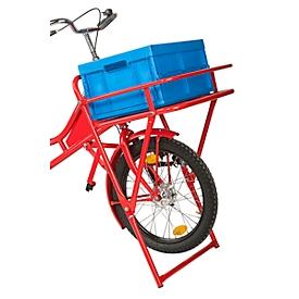 Plooibox voor transport- en bakfiets, van kunststof, plaatsbesparend opvouwbaar