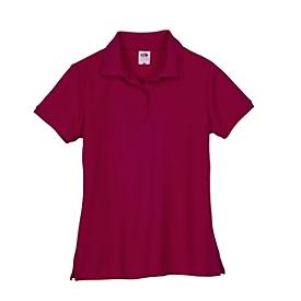 Poloshirt, Bordeaux, XL, Auswahl Werbeanbringung optional