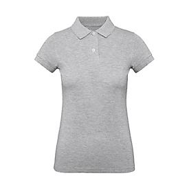 Poloshirt, Damen, Grau meliert, S, Auswahl Werbeanbringung optional