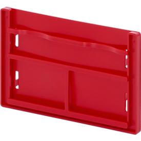 Portaetiquetas Auer Packaging para cajas plegables Big Box con paredes abatibles, rojo, L 250 x An 150 x P 30mm