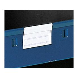 Portaetiquetas para bandejas de almacenamiento, W 85 mm, 50 piezas