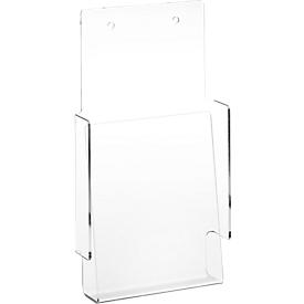 Portafolletos de pared de acrílico transparente, tamaño 1/3 A4