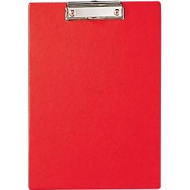 Portapapeles MAUL, DIN A4, cartón/polipropileno, con lazo para colgar, rojo