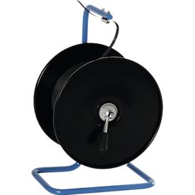 Portarrollos portátil para bobinas de hilo con freno