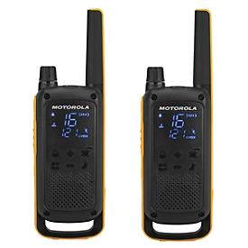 Portofoon MOTOROLA Talkabout T82 EXTREME, 10 km reikwijdte, RSM-microfoon, IPX4, incl. accessoires & zak, 2 stuks