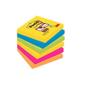 Post-it® Haftnotizen Super sticky, Rio de Janeiro Collection, 76 x 76 mm, 90 Blatt, 6 Blöcke
