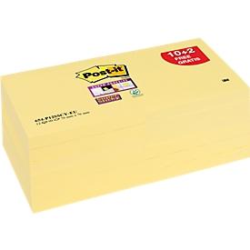 Post-it® zelfklevende notitieblaadjes super sticky Notes, 12 blokken, 76 x 76 mm