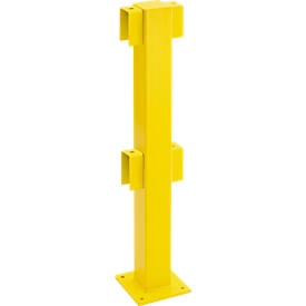 Poste, central, 1000mm, revestido, amarillo