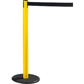 Poste de cinta RS-GUIDESYSTEMS® GLA 28, amarillo, cinta negro