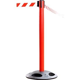 Poste delimitador RS-Guidesystems GLA 25,  rojo, cinta rojo/blanco, 2 unidades