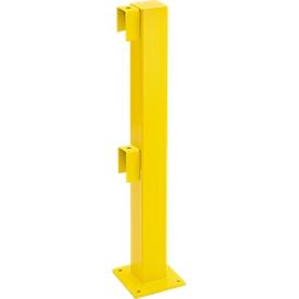Poste principio/final, 1000mm, revestido, amarillo