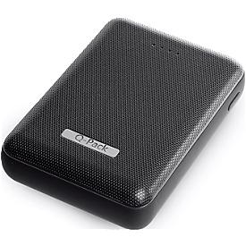Powerbank Q-Pack Luxury, 2 x USB, 10.000 mAh, LED-Anzeige, USB/Micro USB-Ladekabel, schwarz