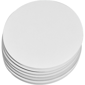 Presentatiekaarten, rond, Ø 195 mm, 250 st., wit