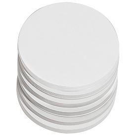 Presentatiekaartjes, rond, Ø 95 mm, 250 st., wit