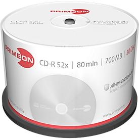 PRIMEON CD-R, tot 52x, 700 MB/80 min, spindel met 50 stuks