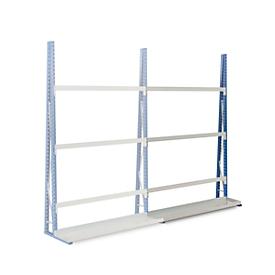 Profiel-magazijnrek, eenzijdig, aanbouwsectie, H 2500 x L 1500 x D 340 mm