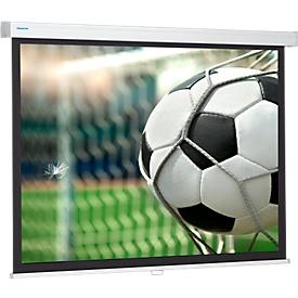Projecta Rollo-schermwand Pro Screen, 1290 x 2000 mm, met klemmechanisme met vering, mat wit
