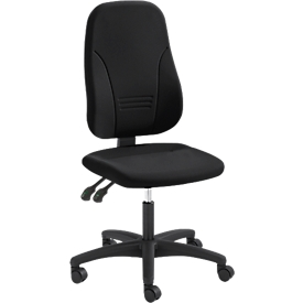 Prosedia Bürostuhl YOUNICO plus 3, Permanentkontakt, ohne Armlehnen, 3D-Rückenlehne, schwarz