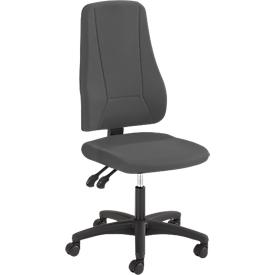 Prosedia Bürostuhl YOUNICO PLUS 3, Permanentkontakt, ohne Armlehnen, hohe 3D-Rückenlehne, anthrazit