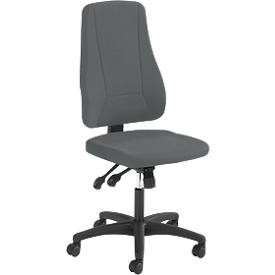 Prosedia Bürostuhl YOUNICO PLUS 8, ohne Armlehnen, Synchronmechanik, Muldensitz, 3D-Rückenlehne, anthrazit/schwarz