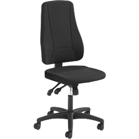 Prosedia Bürostuhl YOUNICO PLUS 8, ohne Armlehnen, Synchronmechanik, Muldensitz, 3D-Rückenlehne, schwarz