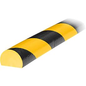 Protección de superficies tipo C, pieza de 1m, amarillo/negro