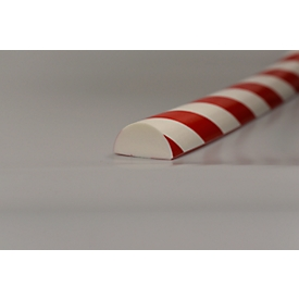 Protección de superficies tipo C+, pieza de 1m, blanco/rojo