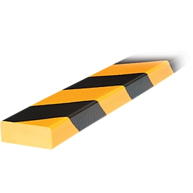 Protección de superficies tipo D, pieza de 1m, amarillo/negro