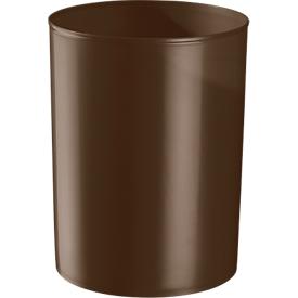 Prullenbak rondofix, 18 liter, Ø 270 x H 336 mm, RAL 8014 bruin
