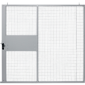 Puerta corredera, para sistema de paredes separadoras, An 2238 x Al 2110mm, plateado claro