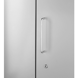 Puerta frontal, para estantería Archivo Color, 2 alturas de archivo, An 950mm, gris luminoso