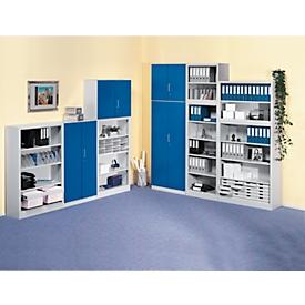Puerta frontal, para estantería Archivo Color, 4 alturas de archivo, An 1200mm, azul genciana