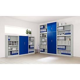 Puerta frontal, para estantería Archivo Color, 4 alturas de archivo, An 950mm, azul genciana