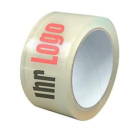 Pvc-tape, 2-kleurige opdruk, transparant, 72 rollen